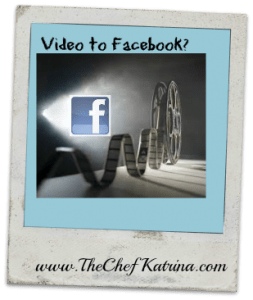 Video to Facebook