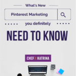 computer image with Pinterest Marketing text call to action
