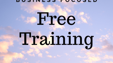 Free Training for building online
