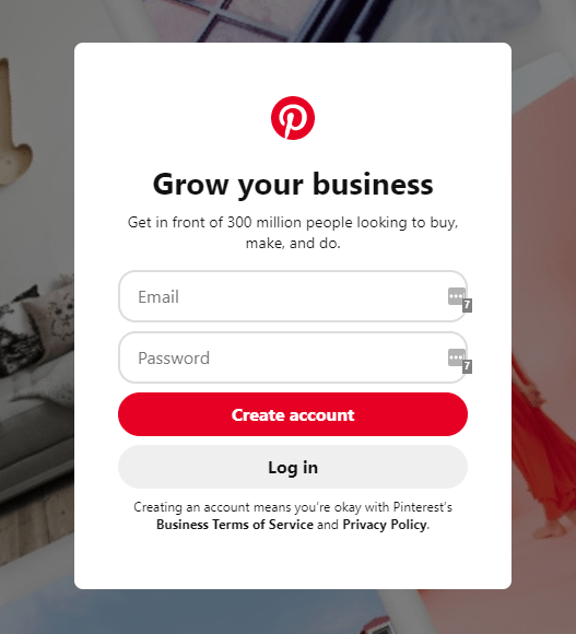 Pinterest Business Account Set Up