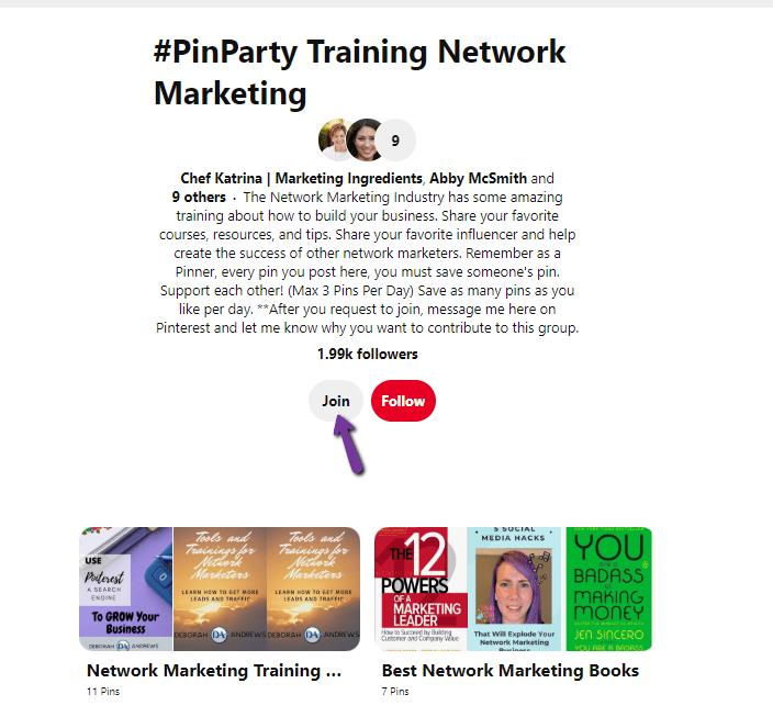 Pinterest Group Board
