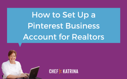 Pinterest business account for real estate agents