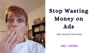 Build the blog then run the ad